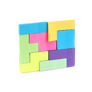 Bloco de Notas Adesivas Tetris Colorido
