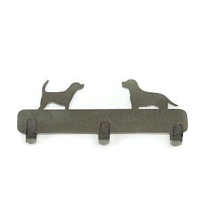 Gancho de Parede em Aço Cachorros Prata