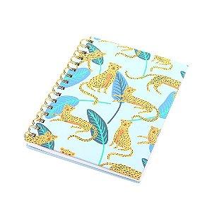 Caderno Wire-o Onça Azul Claro
