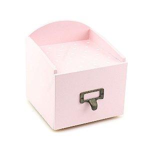 Caixa Arquivo com Gaveta Poá Lilás Pequena