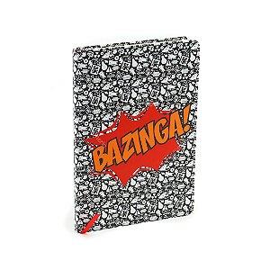 Caderno Médio com Elástico Big Bang Theory Bazinga
