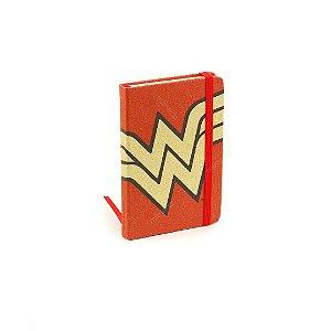 Caderneta com Elástico Mulher Maravilha Vermelha