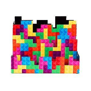 Porta-Lápis em Aço Triplo Pixel Tetris