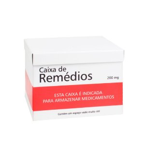 Caixa de Remédios em Aço Tarja Vermelha