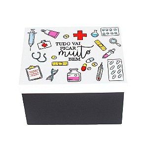 Caixa de Remédios em Aço Muito Bem