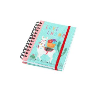 Caderno Médio Decorado com Aplique Lhama