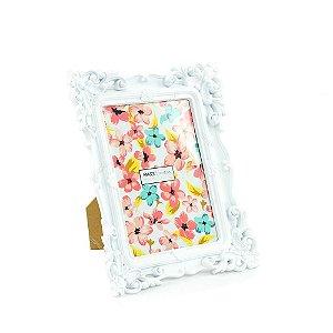 Porta Retrato Rococó Branco 13x18