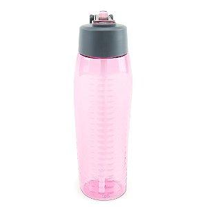 Squeeze de Plástico com Canudo Rosa