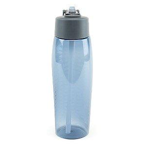 Squeeze de Plástico com Canudo Azul