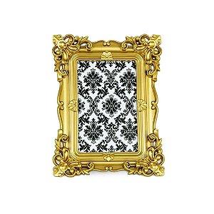 Porta Retrato Rococó Dourado 10x15