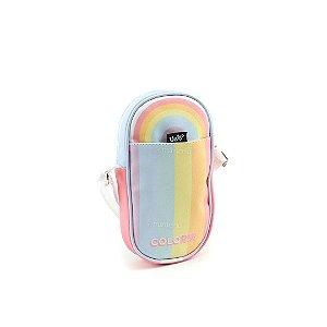 Bolsa Transversal Shoulder Bag Arco-Íris Colorir