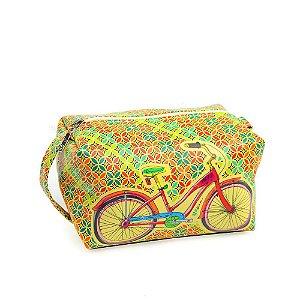 Necessaire Estampada Grande Bike Colorida