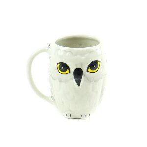 Caneca de Porcelana Decorativa 3D Harry Potter Edwiges