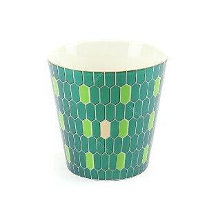 Vaso de Cerâmica Decorativo Pastilhas