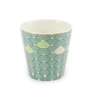 Vaso de Cerâmica Decorativo Arcos