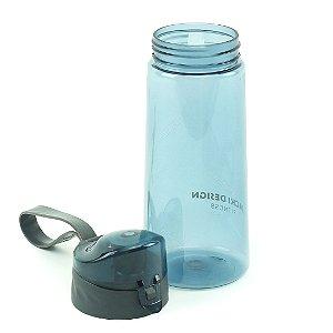Garrafa Squeeze com alça 600 ml Azul