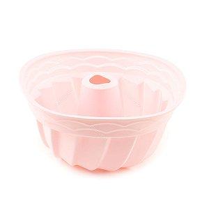 Forma de Silicone para Pudim Soft Rosa