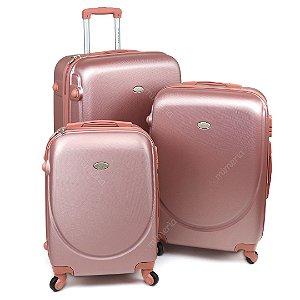 Conjunto de 3 Malas de Viagem com Rodinhas Select Rose Gold