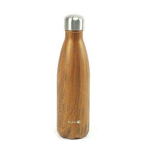 Garrafa Térmica de Inox Parede Dupla 500 ml Wood Classic