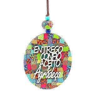 Placa Redonda Hoponopono Entrego Colorida