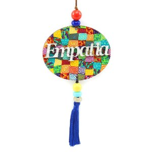 Placa Oval Empatia Colorida