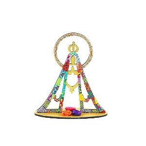 Escultura Colorida Nossa Senhora Pequena