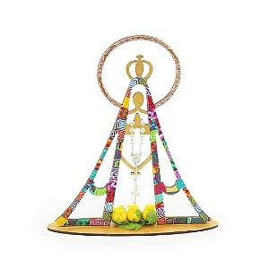 Escultura Colorida Nossa Senhora Grande
