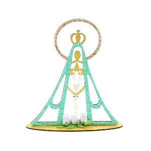 Escultura Azul Turquesa Nossa Senhora Grande