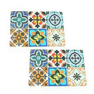Jogo Americano de Plástico Mosaico 2 Peças