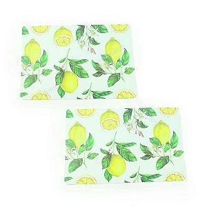 Jogo Americano de Plástico Limões Sicilianos 2 Peças