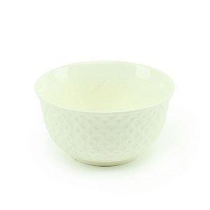 Bowl de Porcelana Losango Branco
