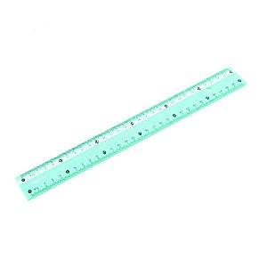 Régua Milimetrada 30 cm Verde Pastel