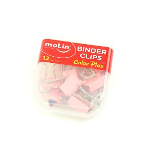Clipes de Papel Rosê Color Plus 19 mm com 12 Unidades