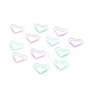 Clipes de Papel Coração com 12 Unidades