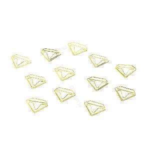 Clipes de Papel Diamante com 12 Unidades