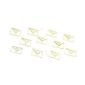 Clipes de Papel Envelope Apaixonado com 12 Unidades