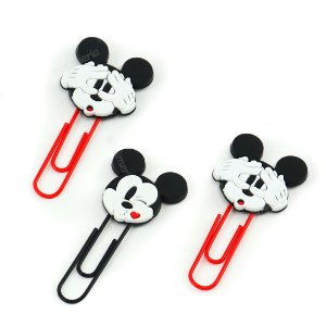 Clipes de Papel Mickey Mouse 50 mm com 3 Unidades