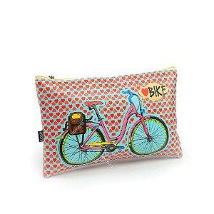 Necessaire Estampada Média Love Bike
