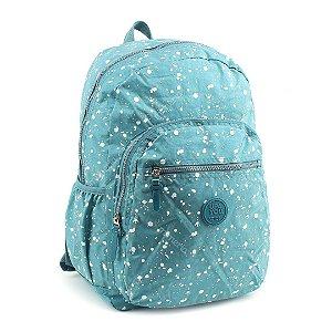 Mochila para Notebook Crinkle Manchinhas Azul Claro
