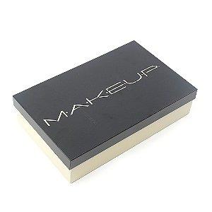 Caixa de Maquiagem em Aço Makeup Areia