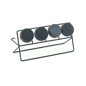 Conjunto Porta-Temperos de Vidro com 4 Peças