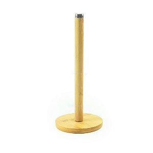 Porta Papel Toalha de Bambu