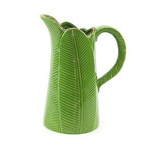 Jarra de Cerâmica Banana Leaf Verde