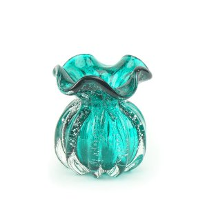 Vaso de Vidro Italy Azul Tiffany