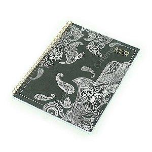 Caderno Universitário 96 Folhas Black To Black Hamsá