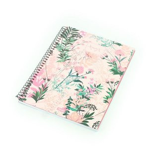 Caderno Universitário 96 Folhas Femme Floral Rosa