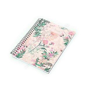 Caderno Médio 80 Folhas Femme Floral Rosa