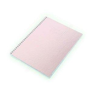 Caderno Colegial 80 Folhas Shine Rosa