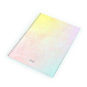 Caderno Universitário 80 Folhas Tie Die Rosa Pastel