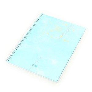 Caderno Universitário 80 Folhas Tie Die Azul Pastel